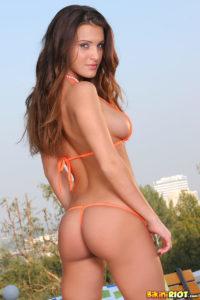 Andie Valentino Bubble Butt in Orange Bikini