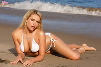 Mia Malkova Tiny String Bikini at the Beach